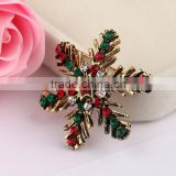 zm53215a Christmas snow brooch fashion christmas decorate jewelry snow crystal accessory