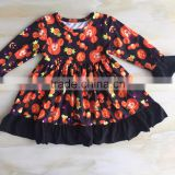 WY-119 Pakistani Baby Girls Cotton Frock Designs For Kid Dress Holiday Baby Girl Yiwu Long Ruffle Sleeve Costume
