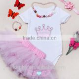 Baby Girls Xmas Outfit Christmas Santa Claus Dress Tutu with necklace and bracelet Romper Set 0-12 Months