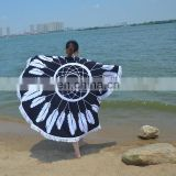 Large round european style women cover sunproof funky microfiber round beach towel