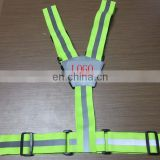 Reflective safety belt with reflective logo for workplace safety