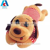 2017 new design embroidery plush stuffed dog toy bed pillow
