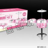 Alibaba wholesale portable pink musical instruments drum set with cheap price