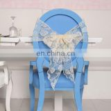 2015 Promotion Gift Beautiful Bow For Chair Polyester Holiday Organza Chair Covers And Bow