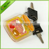 2013 wholesale acrylic enamel filled honey can shape keychain