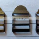 Brass and iron stainless steel material are available Ladder buckle for bag and cap buckle adjust buckle