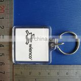 square clear acrylic keychain with paper photo