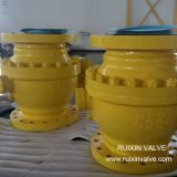 Worm Gear Operated API Trunnion Mounted Ball Valve
