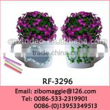 Belly Shape Flora Designed Promotion Mini Ceramic Flower Pots for Wholesale
