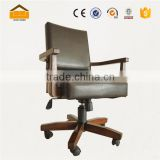 new design wood black leather office chair                                                                         Quality Choice