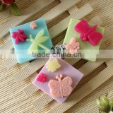 Three Cavity Square Food Grade Silicone Mould For Soap Cake Chocolate Jelly Pudding Making
