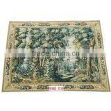 100% wool hand knotted aubusson tapestry