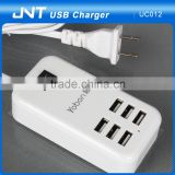 New 6 Port USB Wall Charger , Universal Mobile Travel Charger 5V 6A AC Power Adapter for Iphone Samsung HTC LG