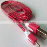 25cm/1M/2M/3M Braided Wire Colorful Micro USB Cable 3ft Sync Nylon Woven Charger Cords For Samsung Galaxy S3 S4 S6