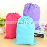 custom made colored printed non woven drawstring bag for packaging shoes / groceries in travelling                                                                                                         Supplier's Choice
