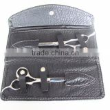 Black foldable Hair scissor leather case