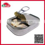 Hot exporting ingredient Wholesale 125g canned sardine price with vegetable oil