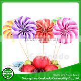 hot sale beautiful cake and fruit wooden cocktail picks /cake picks
