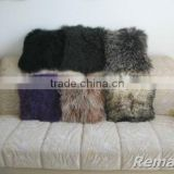 factory wholesale Tibetan Mongolian Lamb Skin Fur Pillow cover/ pillow case in high quality
