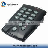 Professional wired black call center RJ11 simple headset phone CHT-800