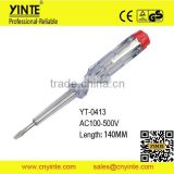YT-0413 CE GS approved AC100-500V electrical test pen screwdriver                                                                         Quality Choice