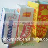 low price quality Paper Popcorn Bags wholesale/factory price popcorn paper bag with custom printing/good price paper popcorn bag