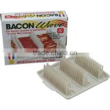 Plastic microwave bacon wave