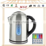 120V ETL/UL certificate cordless stainless steel water/tea kettle electric with keep warmer function