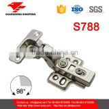jieyang hydraulic soft closing stainless steel butt hinge for cabinet type of door hinge