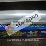 Power Plasic film Stretch Wrap and packaging Plastic transparent roll film with paper core