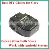 OBD2 Scan Interface Car Owner DIY Android System Bluetooth Scanner B-Scan Fast Shipping