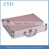 High-end Pink PU Leather Briefcase Hard Shell Case, Aluminum Attache Case Women ZYD-SM111304