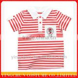 wholesale kids striped polo tshirt for 6-12 years old