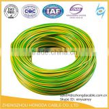 low voltage red yellow blue green white indoor usage copper conductor pvc insulated BV BVVB BVR electrical power cable
