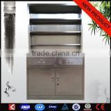 Laboratory medical wall cabinet metal indoor used medical equipment stainless steel display cabinets