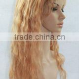 "Hot selling beauty style 22"" loose wave Brazilian virgin human hair gluless full lace wig,accept escrow payment"