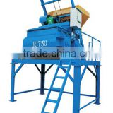 JS750 Dual horizontal shafts forced weigh batching concrete mixer concrete mixer machine for sale