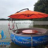 HEITRO BBQ donut boat for entertainment, China Manufacturer Original manufacture electric BBQ boat (6 persons type)