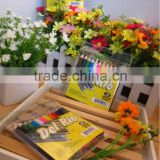 "3.5"" short hexagonal color pencil /mini coloring pencils/12 mini wood color pencil in pvc bag with paper card"