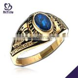 Gold plated blue oval stone wholesale jewelry brass casting