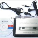 USB cassette tape to audio files/used as walkman,play&record