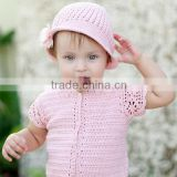 dave bella 2013 summer new arrival 100% cotton baby hat sunhat babi caps with flour knitted hat DB339