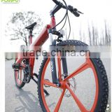 Flash 26' electric motor bike with two wheels bicycle full suspension front forks