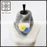 2015 New design Faux Fur and Real Fur Mixed Snood