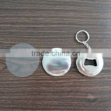 Round shape tin button badge bottle opener with keychain