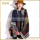Newest listing Soft Cashmere European women scarf plaid long shawl acrylic blanket scarf