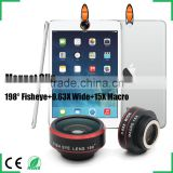 New design magnetic clamp 198 degree super fisheye lens ultra super wide angle lens selfie camera lens for iphone samsung htc lg
