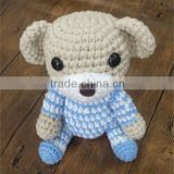 Kawaii hand crochet bear plush stuffed animals doll