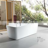 Lastest design Seasummer Acryliy square bathtub indoor manufacturer with mix valve shower