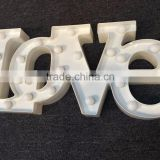 "Factory supply bulk stainless steel metal paint ""LOVE"" marquee letter led sign for christmas"